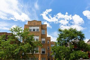 A building in Humboldt Park operated by LUCHA, a community-based, nonprofit affordable housing provider in Chicago. LUCHA and Bickerdike, a similar organization, partnered with nonprofit Elevate Energy to create the R2I2 program.